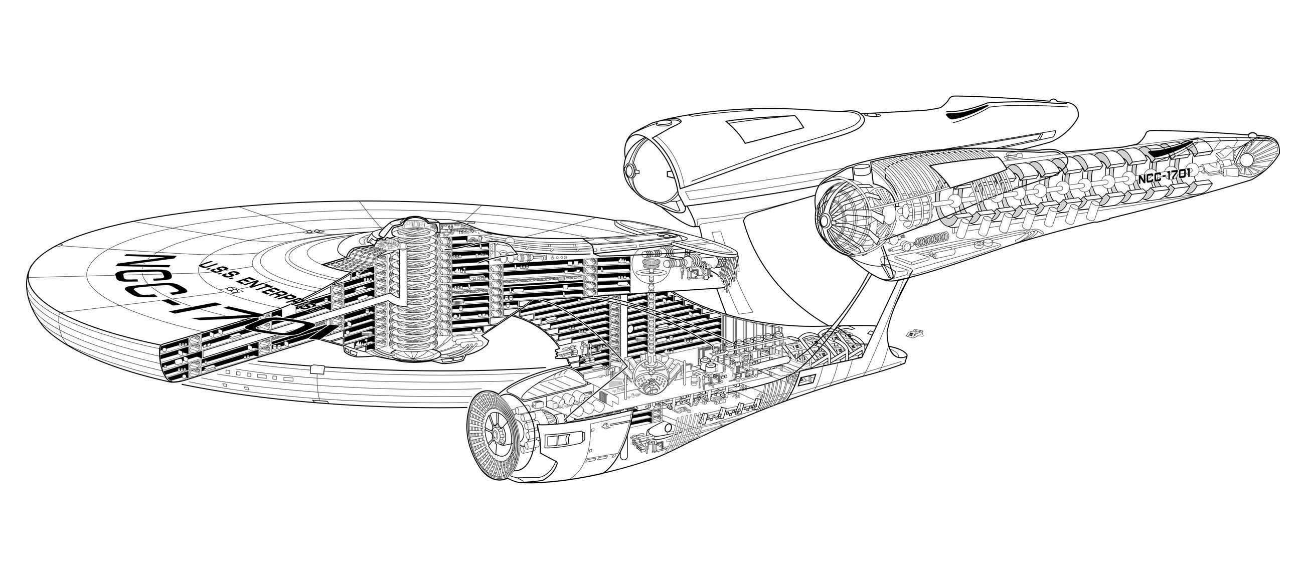 new uss enterprise cutaway i ve got to get off this planet