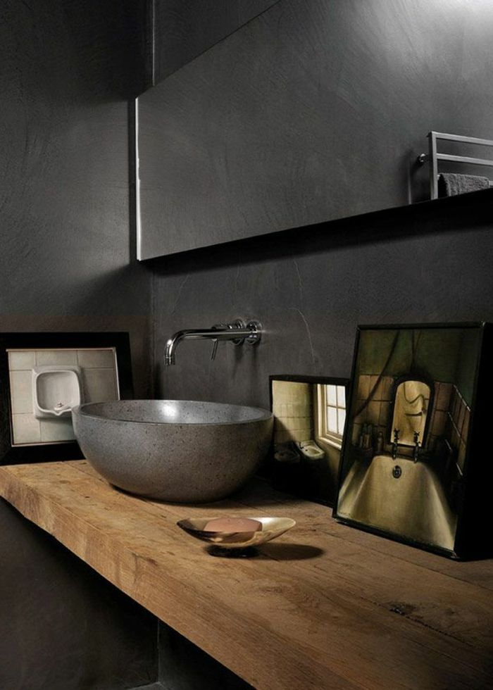 Moderne Badgestaltung   Waschbecken Modell   Hölzerner Untertisch