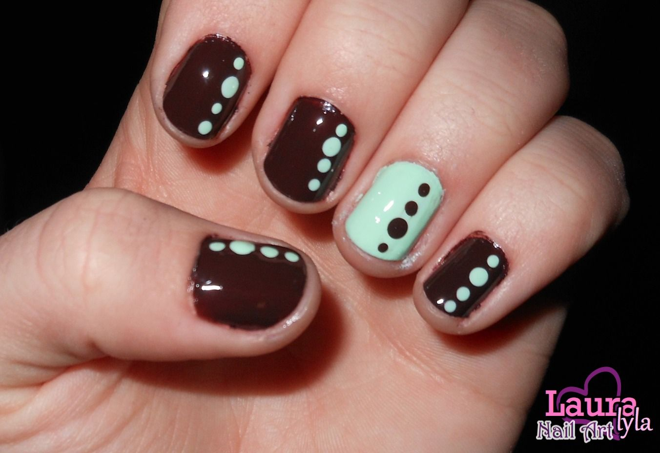 Cool Mint Nails http://www.youtube.com/user/lauralyla?feature=mhee