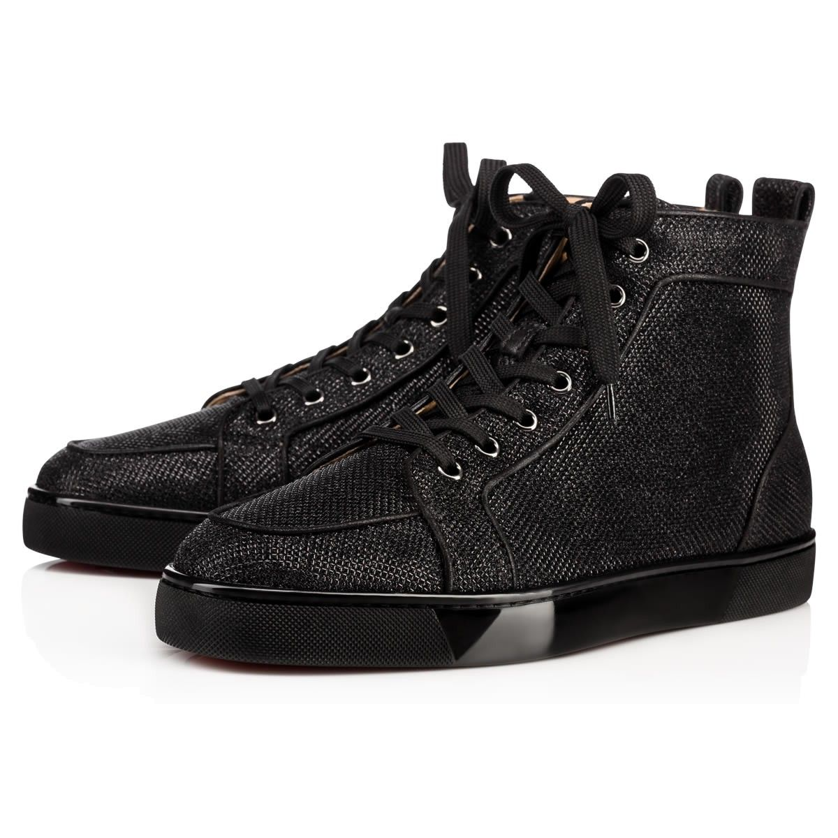 066a4fbc3576 CHRISTIAN LOUBOUTIN Rantus Orlato Men S Flat Black Glitter - Men Shoes -  Christian Louboutin.  christianlouboutin  shoes