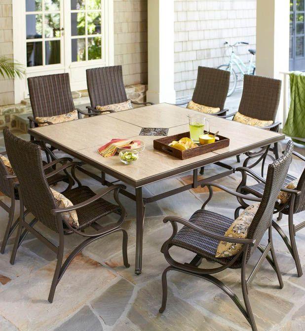 Hampton Bay Pembrey 9 Piece Patio Dining Set Hd14216 The