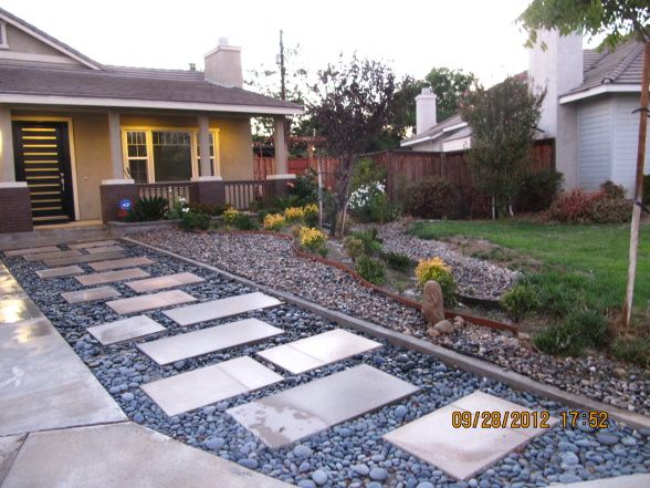 Modern Low Maintenance Landscape My Idea Is To Transform Old Front Yard New Water