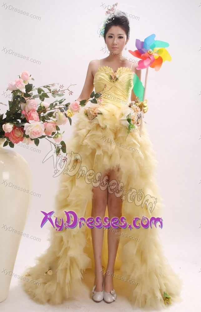 Gold High Low Prom Dresses Affordable