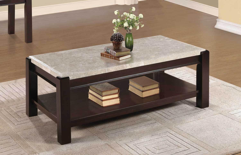 Homelegance 5466 30 Festus Brown Marble Top Coffee Table Marble Top Coffee Table Marble Coffee Table Coffee Table [ 967 x 1500 Pixel ]