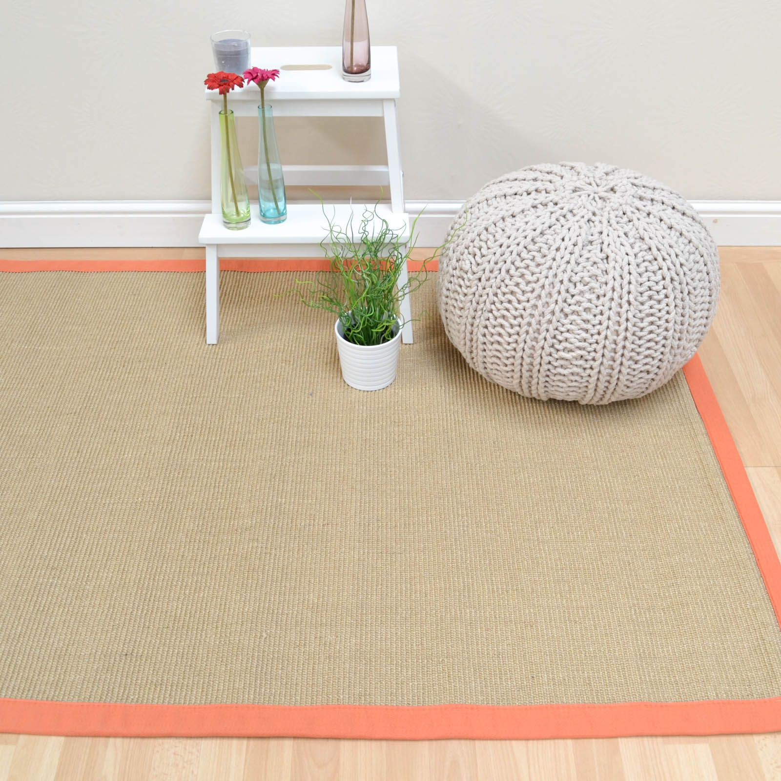 Sisal Rugs In Linen With An Orange