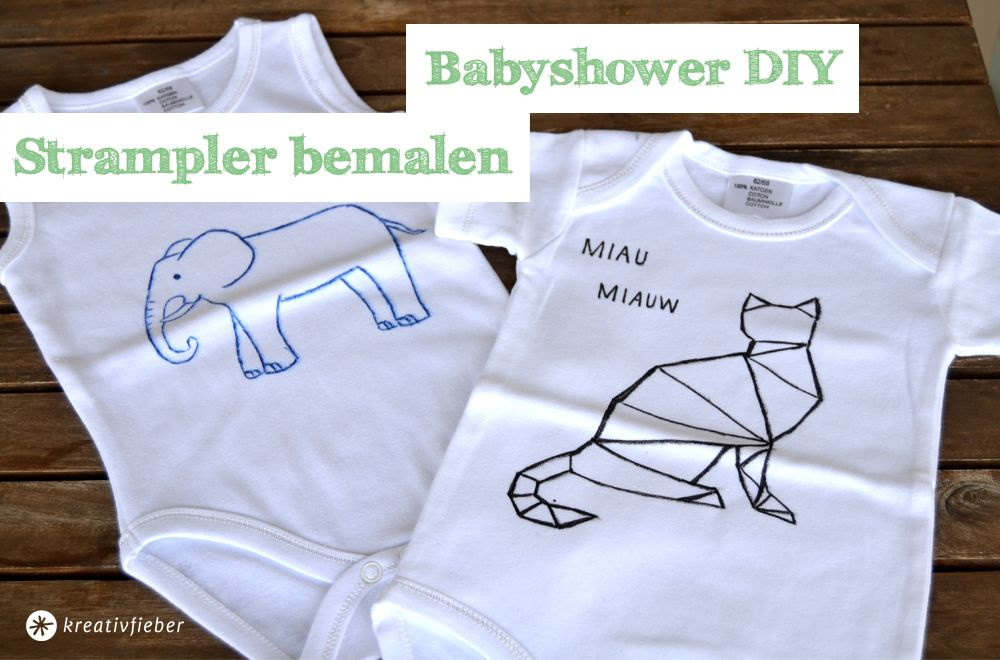 Babyshower Diy Strampler Bemalen Stuff Pinterest Baby Party