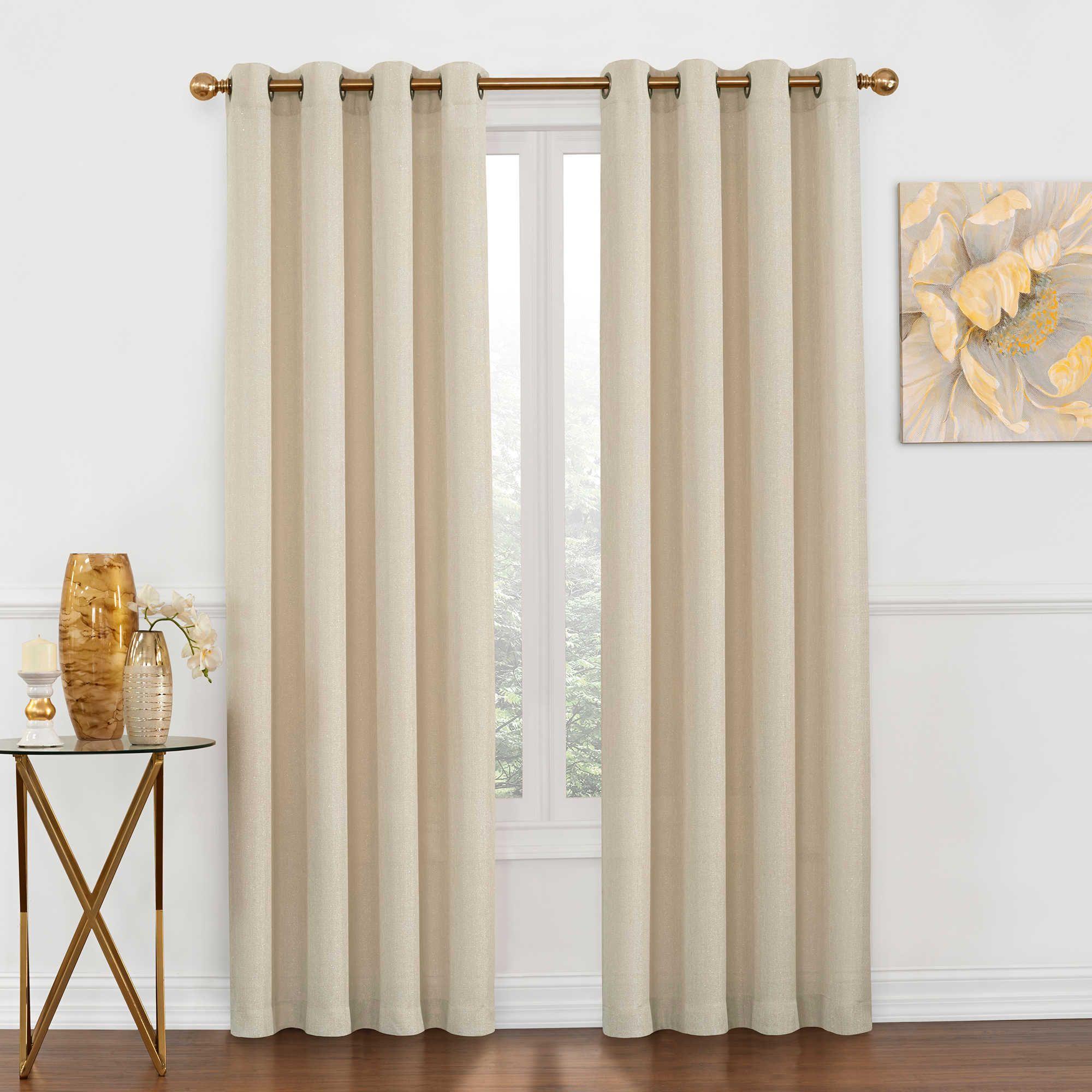 Luna Metallic Grommet Top Window Curtain Panel