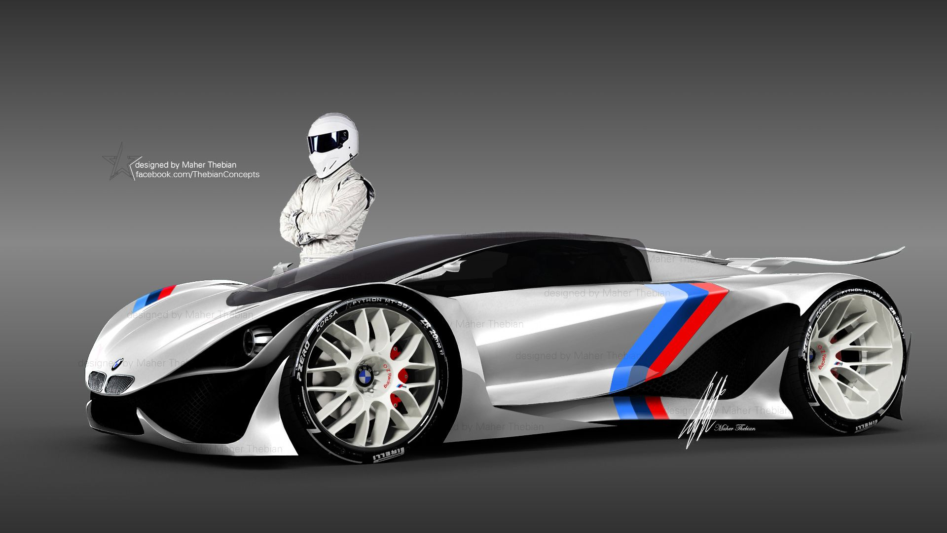 My New 3d Max Concept Car Design For Bmw Future Super Sports Car