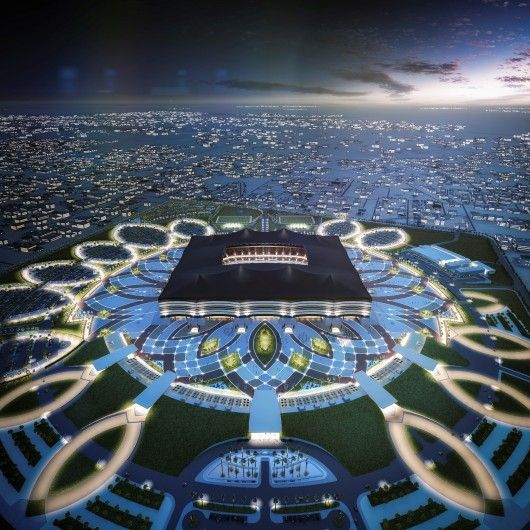Qatar Unveils Designs For Second World Cup Stadium Stadium Architecture Stadium Design World Cup Stadiums