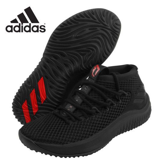 the best attitude 38e9b 3685e adidas Dame Lillard 4 Dame Time Mens Basketball Shoes Bounce Black Red  BW1518 adidas