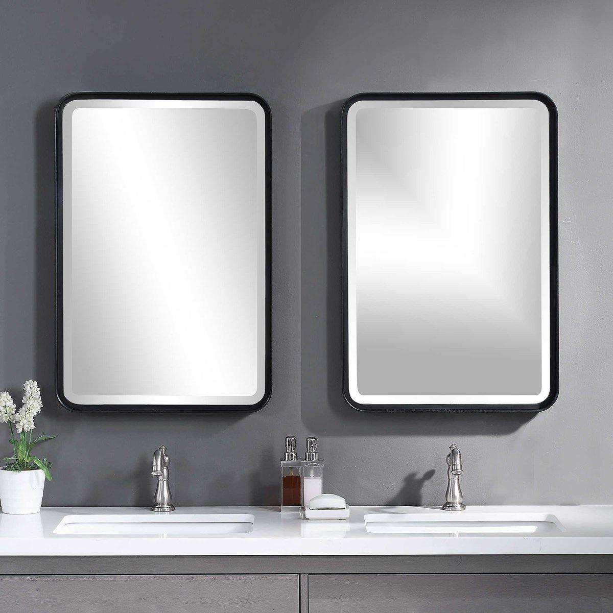 42++ Bathroom vanity mirror matte black ideas