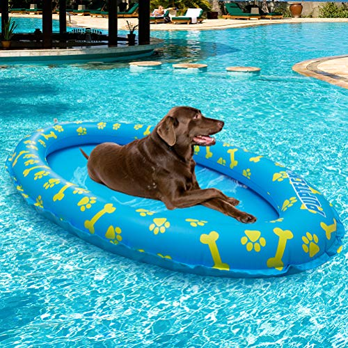 Pupteck Dog Pool Float Inflatable Pet Swimming Pool Toy Raft Blue Arezona Family Dog Pool Floats Dog Pool Pool Toys