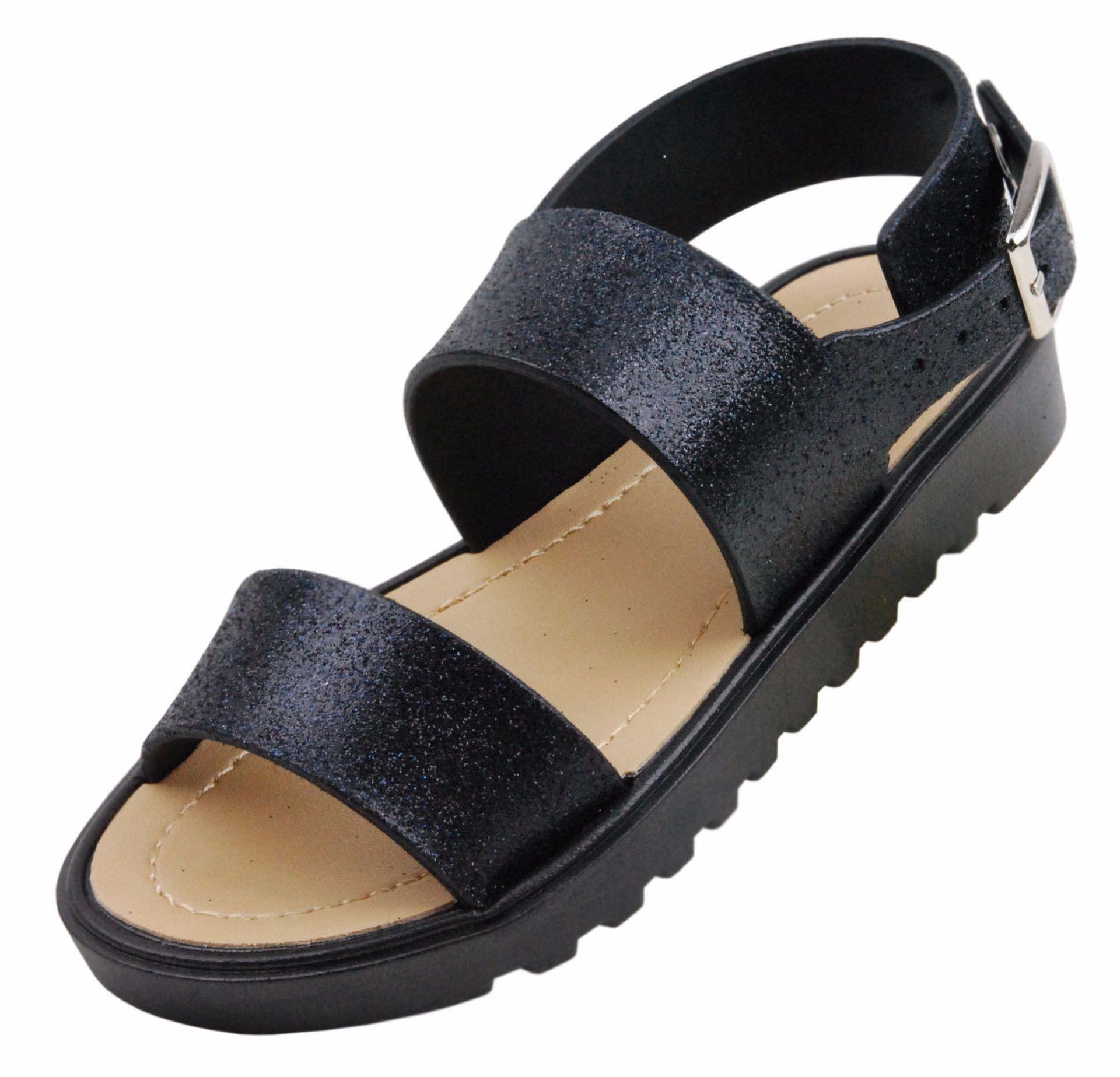 Toddler Little Kids Girls Glitter Color Gladiator Sandals Water Shoes Jelly Shoe (ONLY G-JR)