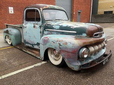 Ford F100 Pickup 1950 Patina Rat Rod Air Ride Show Car Cool