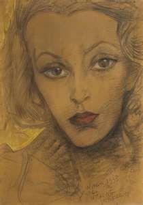 Witkacy- Portrait of Maria Dabrowiecka. I like it for a few reasons..