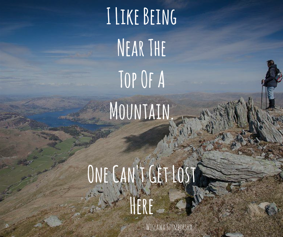 Hiking Quote - Top of a mountain | Favorite Sayings | Hiking ...