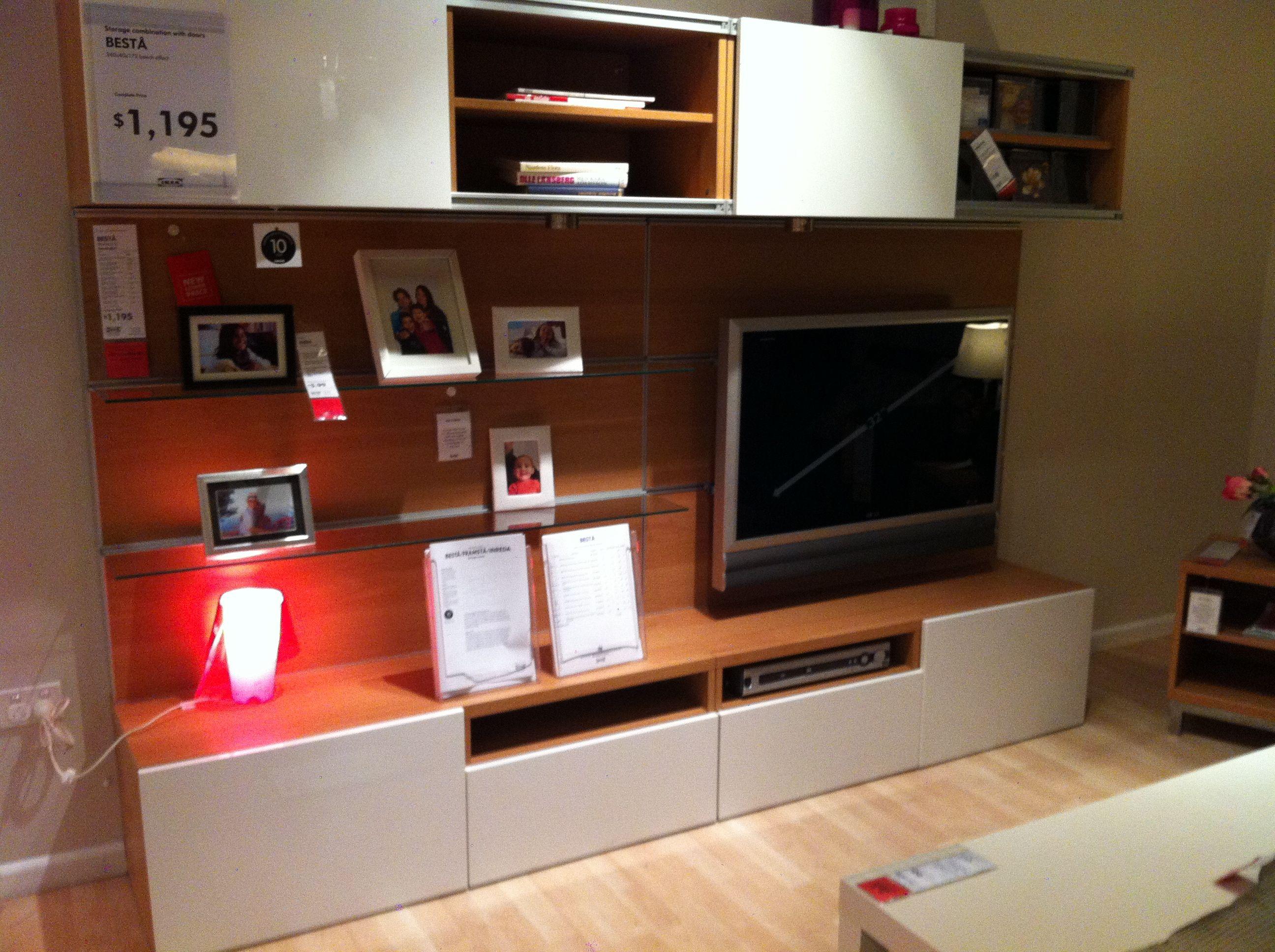 IKEA entertainment unit, great set up Ikea entertainment