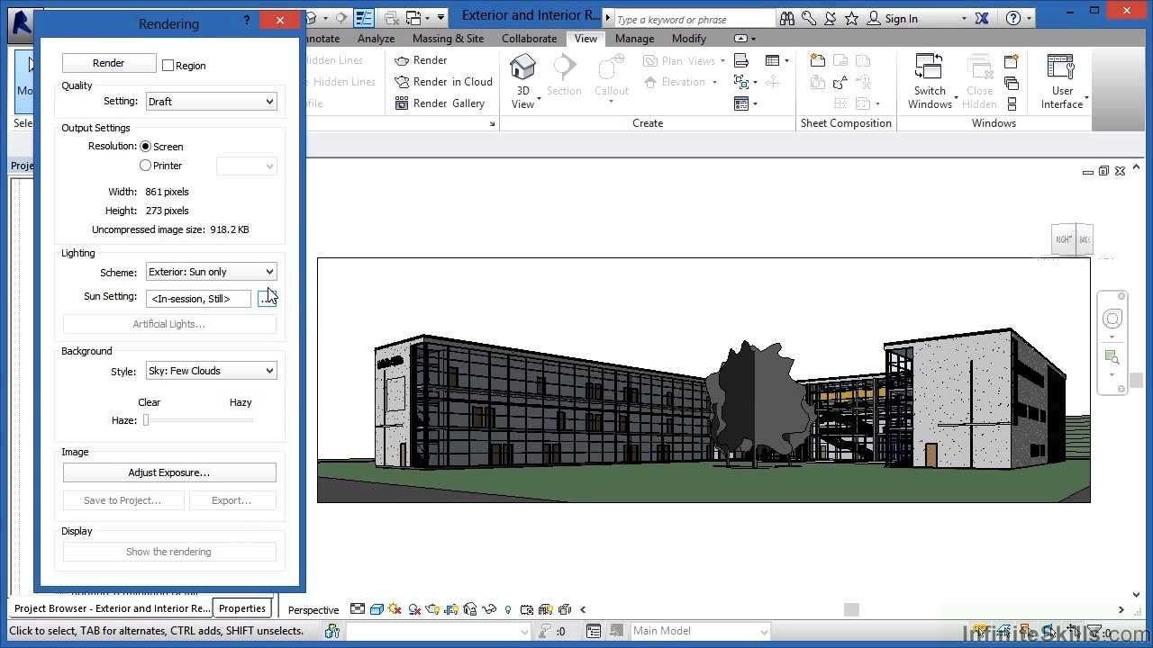 Advanced Revit Architecture 2014 Tutorial Exterior And Interior Rendering Cad Sketchup