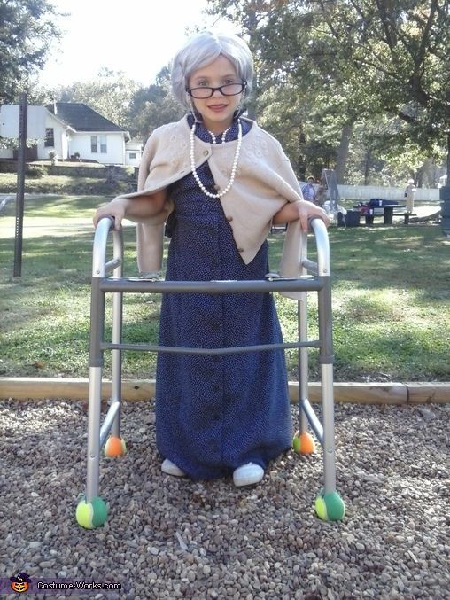 old lady costumes - Google Search - Old Lady Easy DIY Toddler Halloween Costume! For Nora