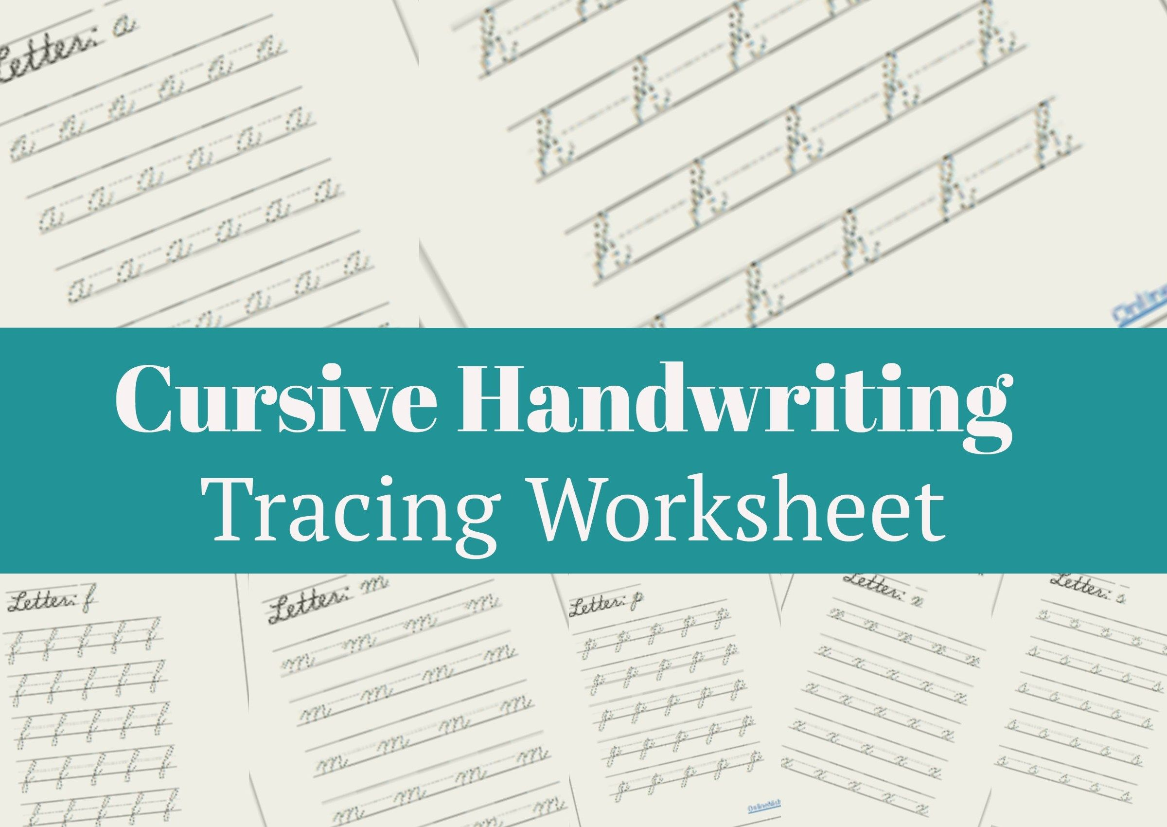 Lowercase Cursive Handwriting Worksheet Free