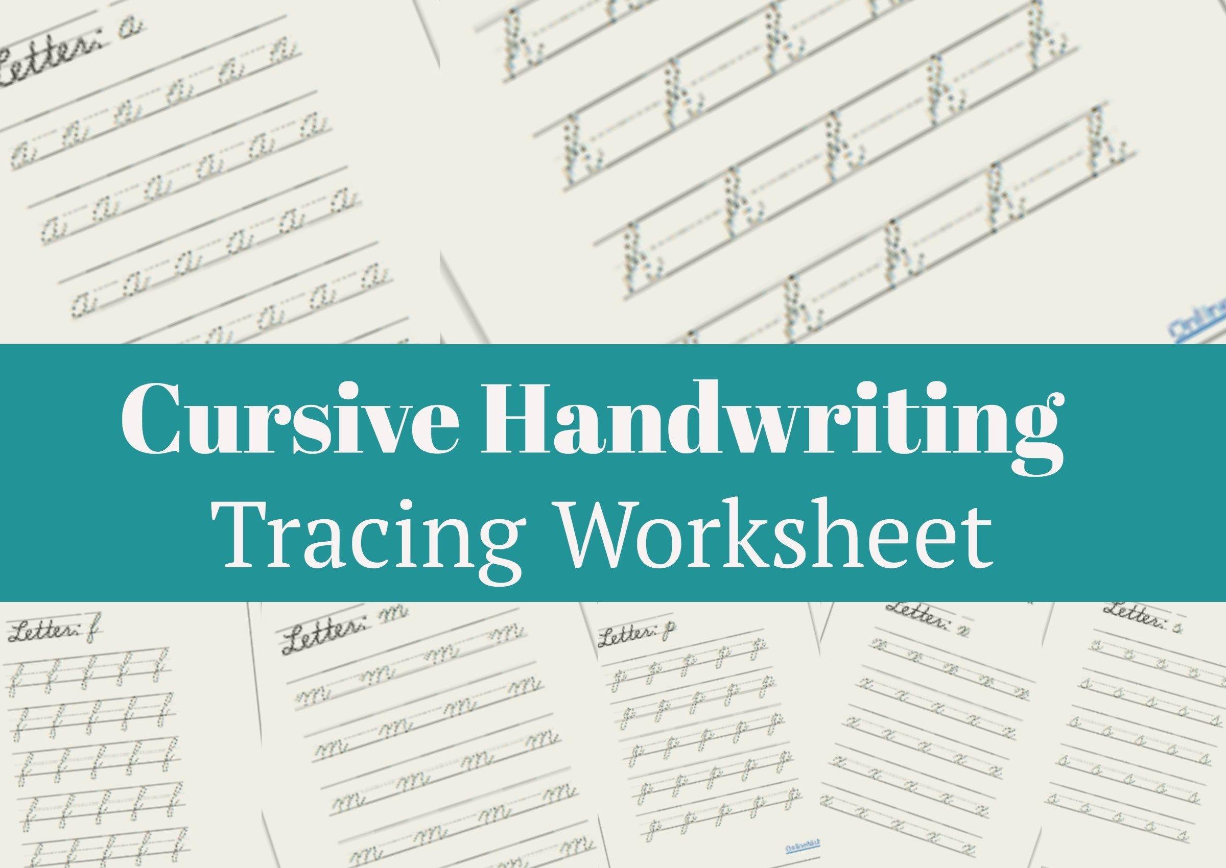 Lowercase Cursive Handwriting Worksheet Free
