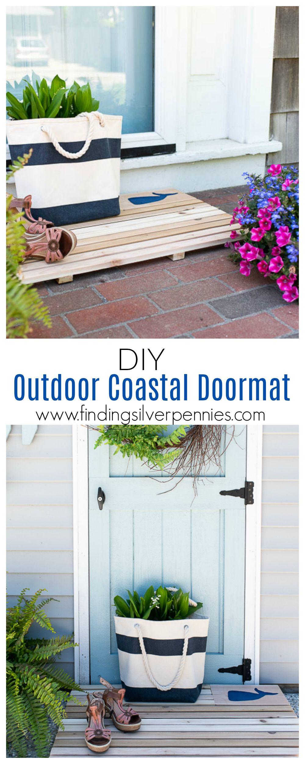 Diy Coastal Cedar Doormat With Images Outdoor Beach Decor Diy