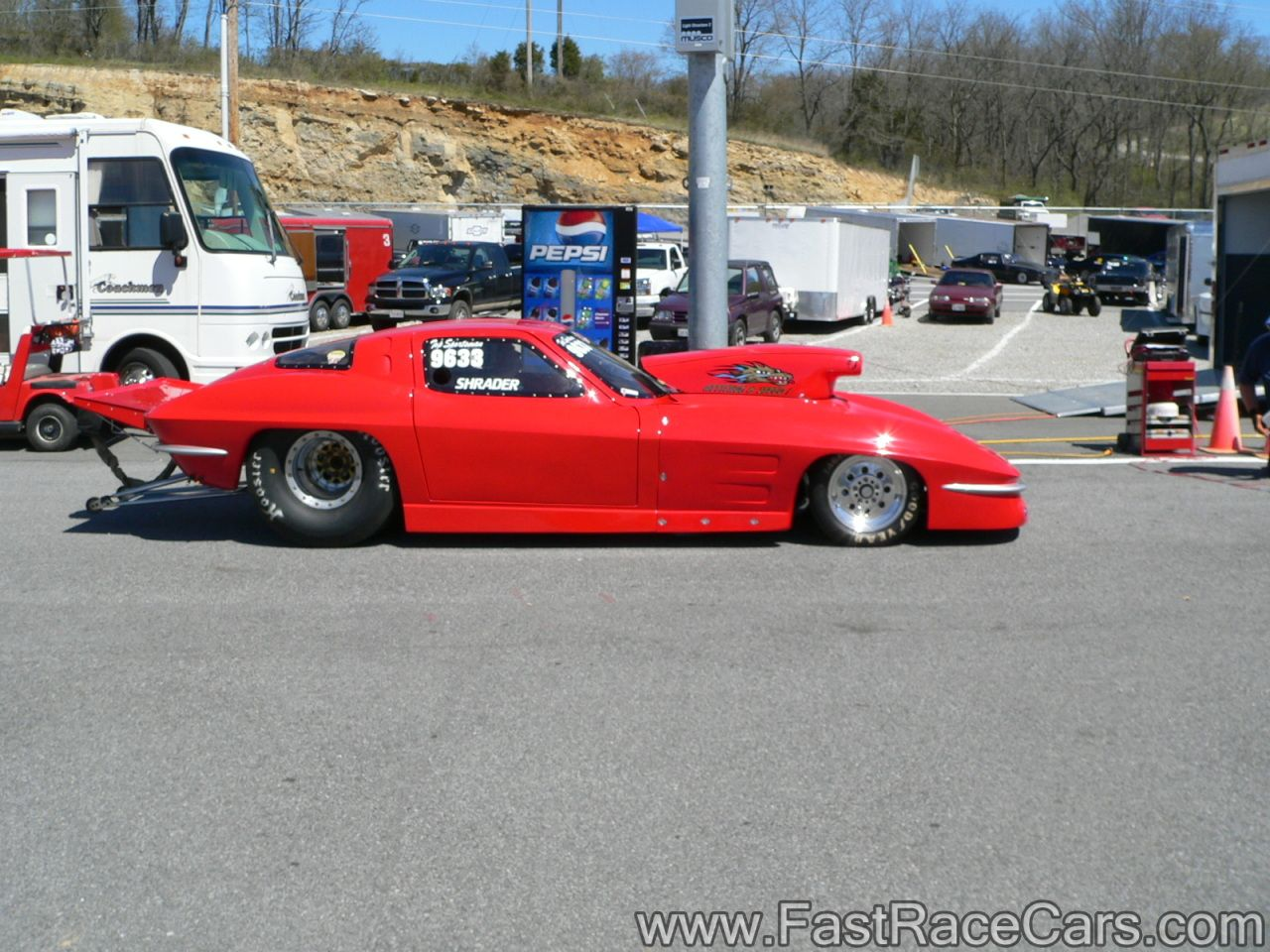 Drag Cars Drag Race Cars Corvettes Picture Of 1963 Red