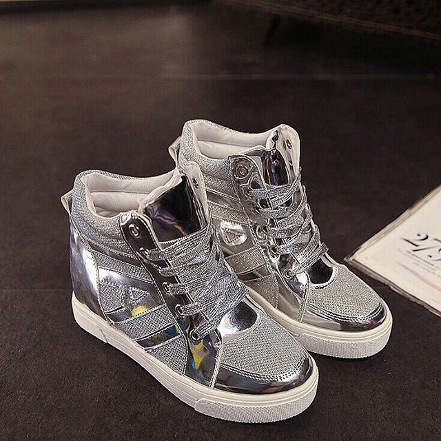 Casual Fashion Sneakers Shiny Lace Up High Top $110  ᴏʀᴅᴇʀ ɴᴏᴡ: ᴊᴜsᴛᴇʙᴏᴜᴛɪǫᴜᴇ@ɢᴍᴀɪʟ.ᴄᴏᴍ  #boutique #picoftheday #fashion #dress #istafashion #clothing #want #weheartit #online #newyork #bestofthebest #topquality #follow #heels #goodisgood #iwantone #forsale #unique #greatbuy #style #look #loveit #beauty #new #product #forsale #womensfashion #happybuyers #buyme #allmymoneygoestofashion