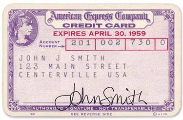 October 1 1958 American Express Released Their First Credit