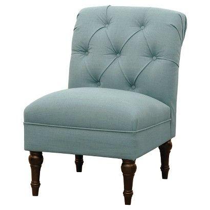 Threshold Trade Tufted Back Slipper Chair Light Blue Blue