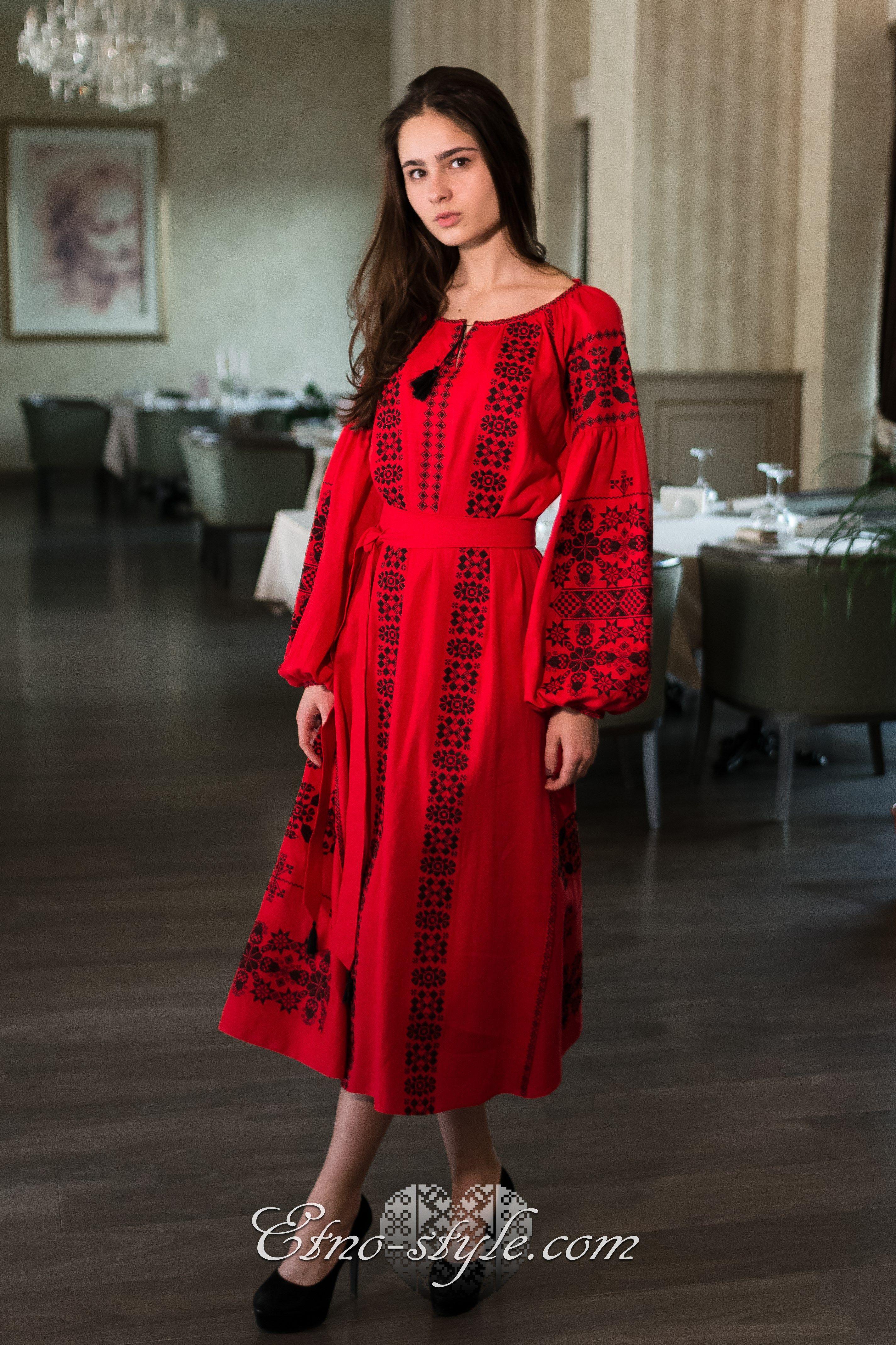Жіноче вишите плаття Рандеву etno-style  21707f7ebe846