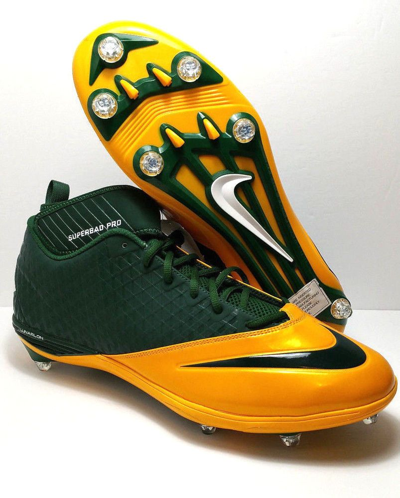 71b2aebfcb86 Nike Men Cleats Lunarlon SuperBad Pro Football NFL Green Bay Packers Size  16 d #Nike