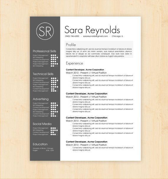 Resume template cv template the sara reynolds resume design resume template cv template the sara reynolds resume design instant download yelopaper Choice Image