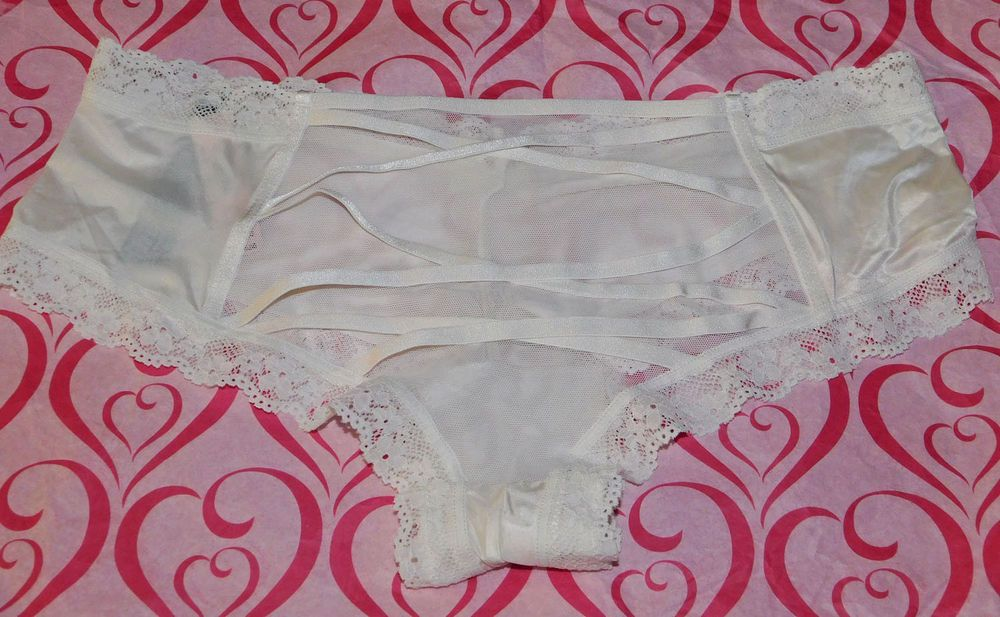 b9209e2ad4ee NEW Victoria's Secret Very Sexy Strappy-Back Cheeky Panty Lace Mesh Ivory  Large #fashion #clothing #shoes #accessories #womensclothing  #intimatessleep (ebay ...