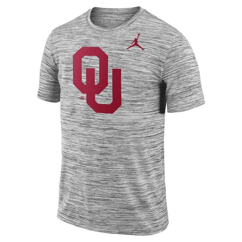 b0ea7a30852 Men s Jordan Brand Charcoal Oklahoma Sooners Player Travel Legend  Performance T-Shirt
