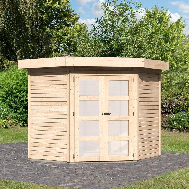 Abri jardin d\'angle – L\'art des cabanes, jardin et maison