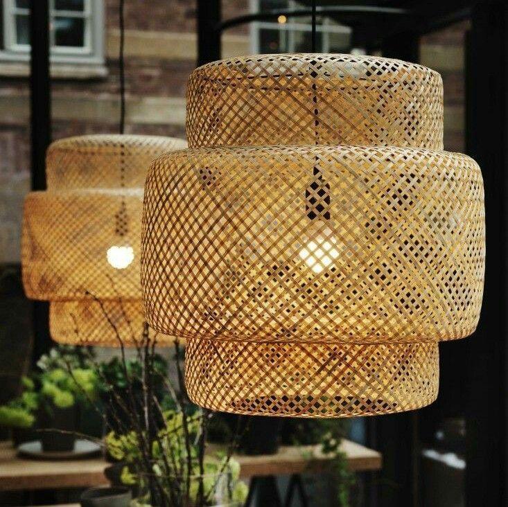 Vintage Lampenschirme Lampe Rattan Lampenschirm Lampen Hangelampe