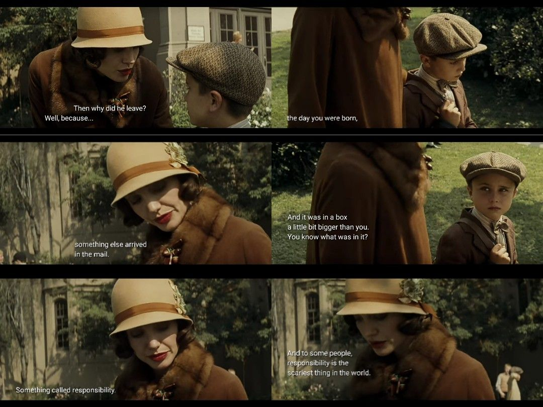 Responsibility Christine Collins Christine Collins Movie Lines Changeling