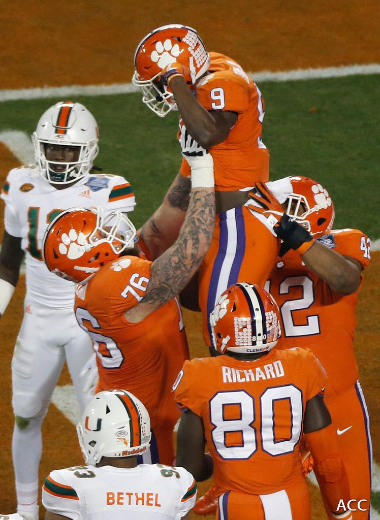 Clemson Photos 2017, Football, miami Clemson tigers