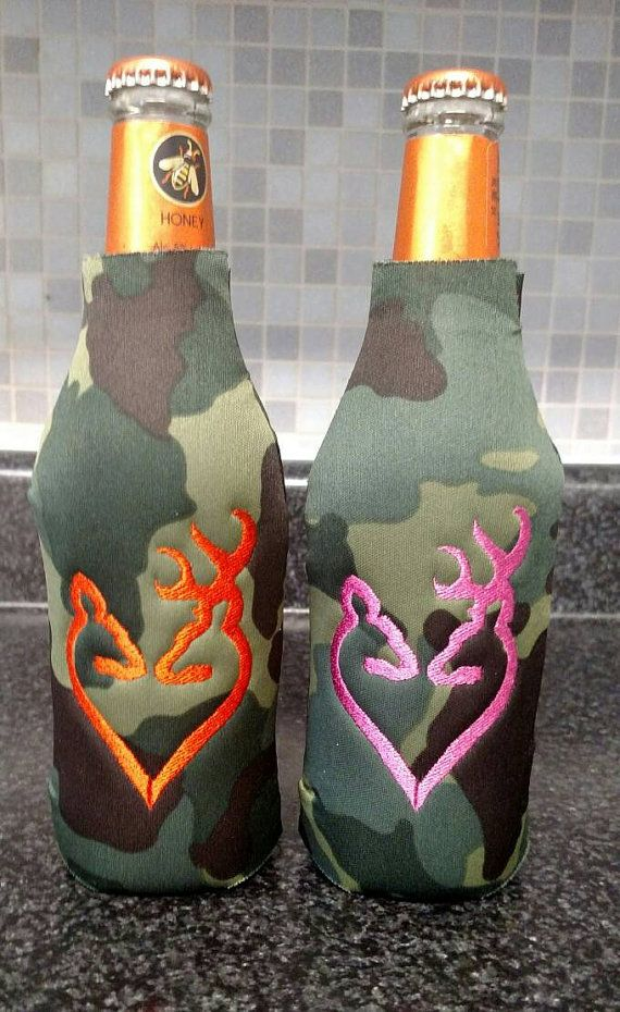 Set of 2 Personalized Camo Doe & Buck Deer by PrettiesByJenny