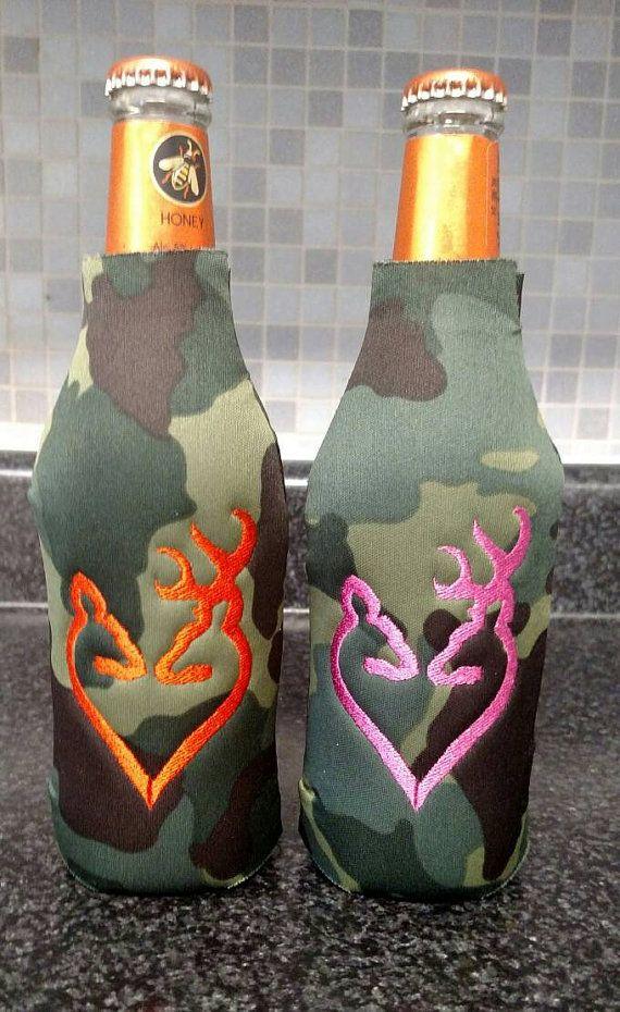 Set of 2 Personalized Camo Doe & Buck Deer by PrettiesByJenny