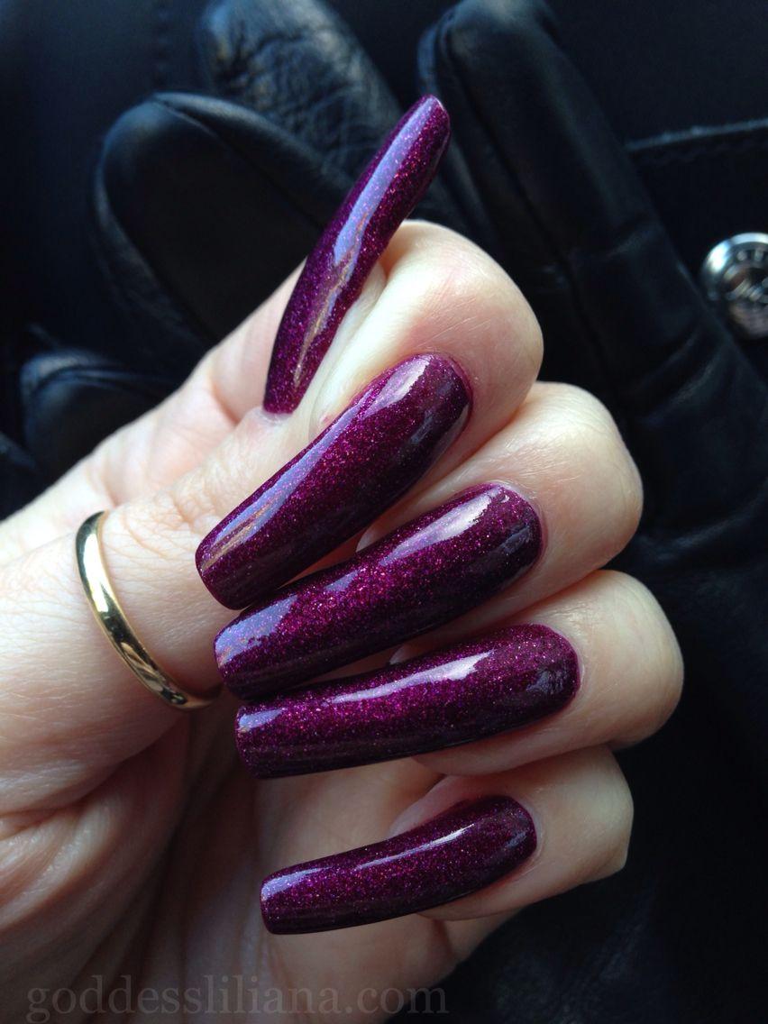Natural long nails... | My Long Nails Fetish... | Pinterest | Purple ...