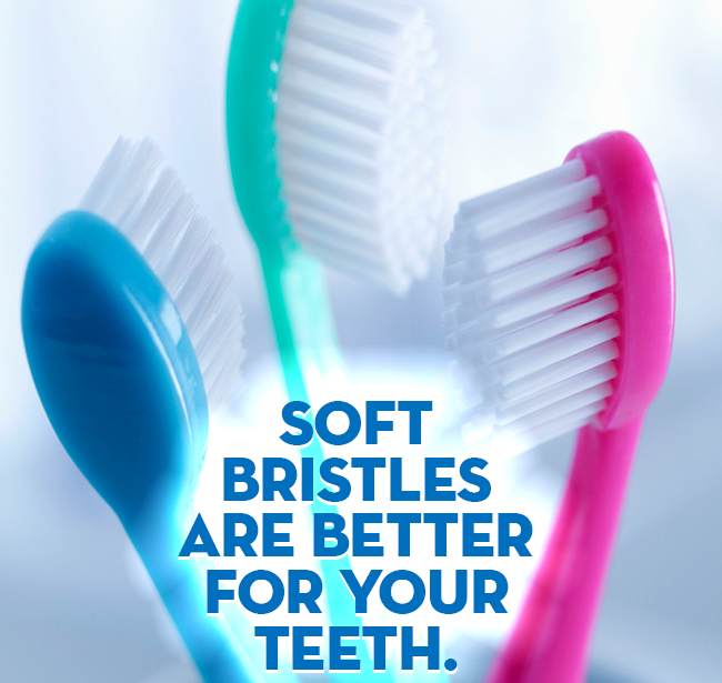 Did you know that soft bristles on a tooth brush are