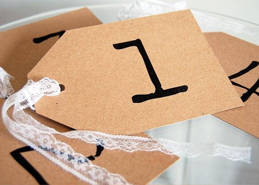 table number or name tag wedding pinterest table numbers name