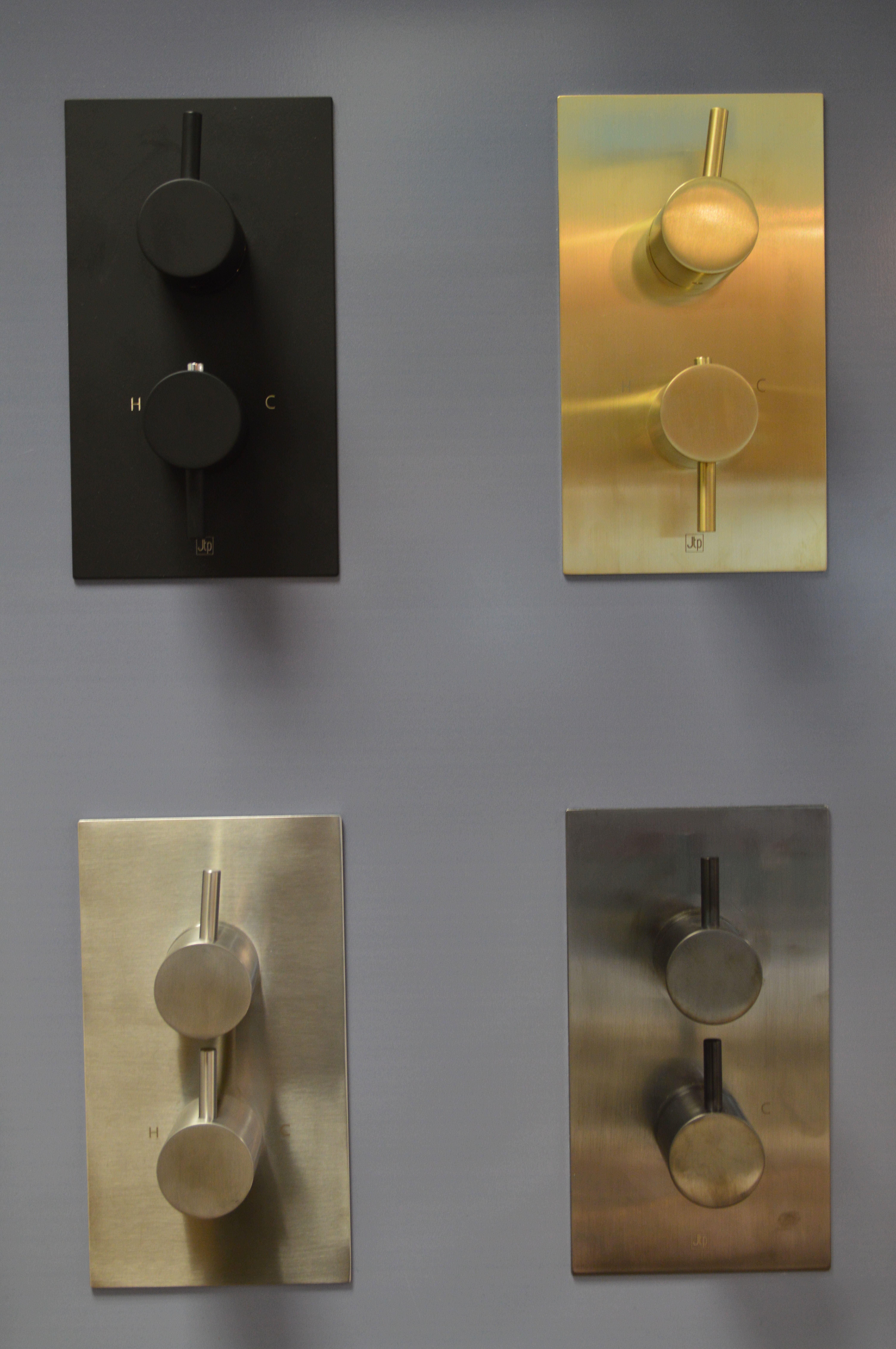 Differing Finishes for Brassware Matt Black, Brushed Brass