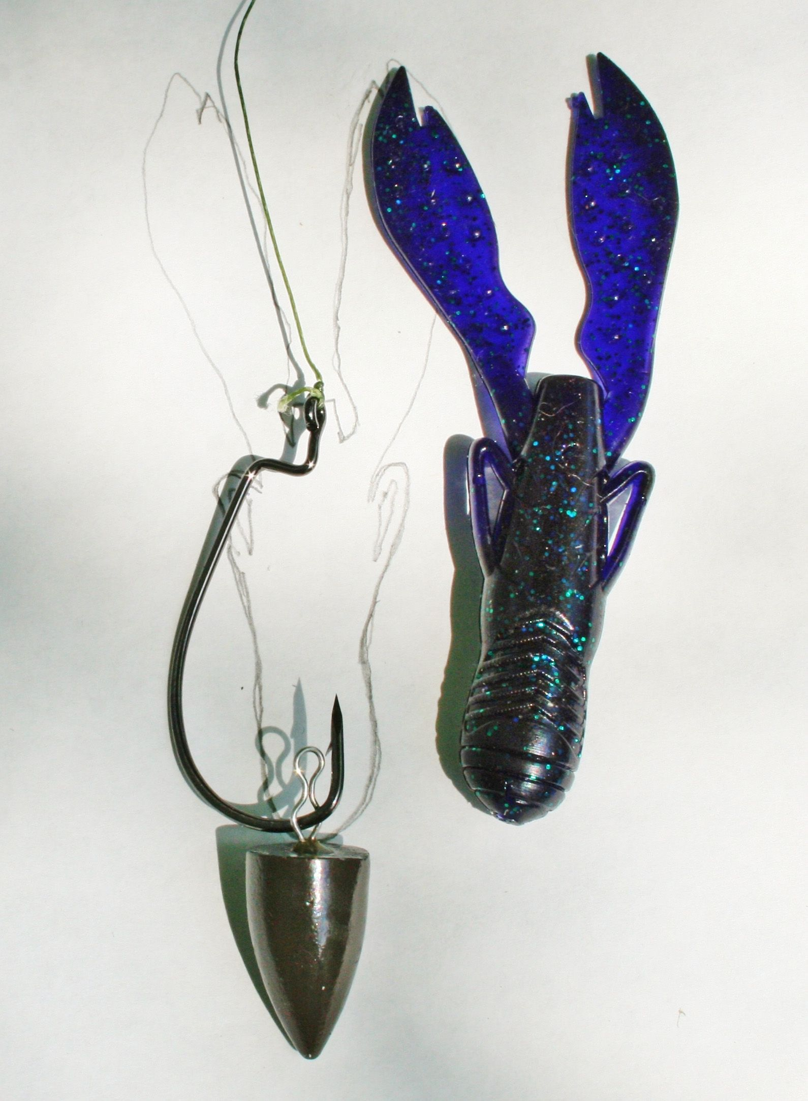 Zappu Weight Clips On The Bend Of The Hook The Craw Bait
