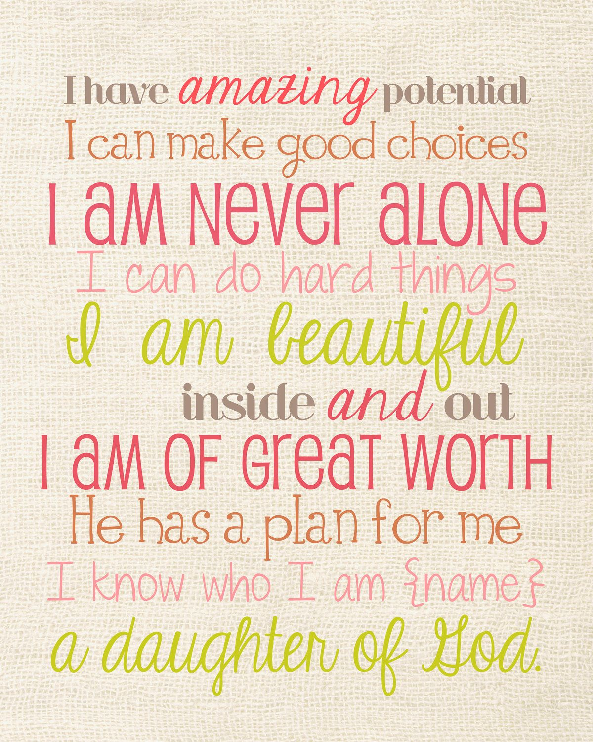 Quotes, Daughter Of God