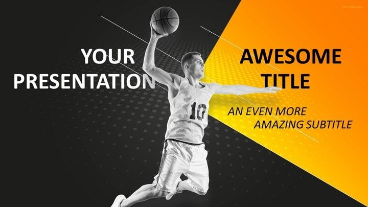 Sports - Basketball PowerPoint Template Sports PowerPoint - basketball powerpoint template