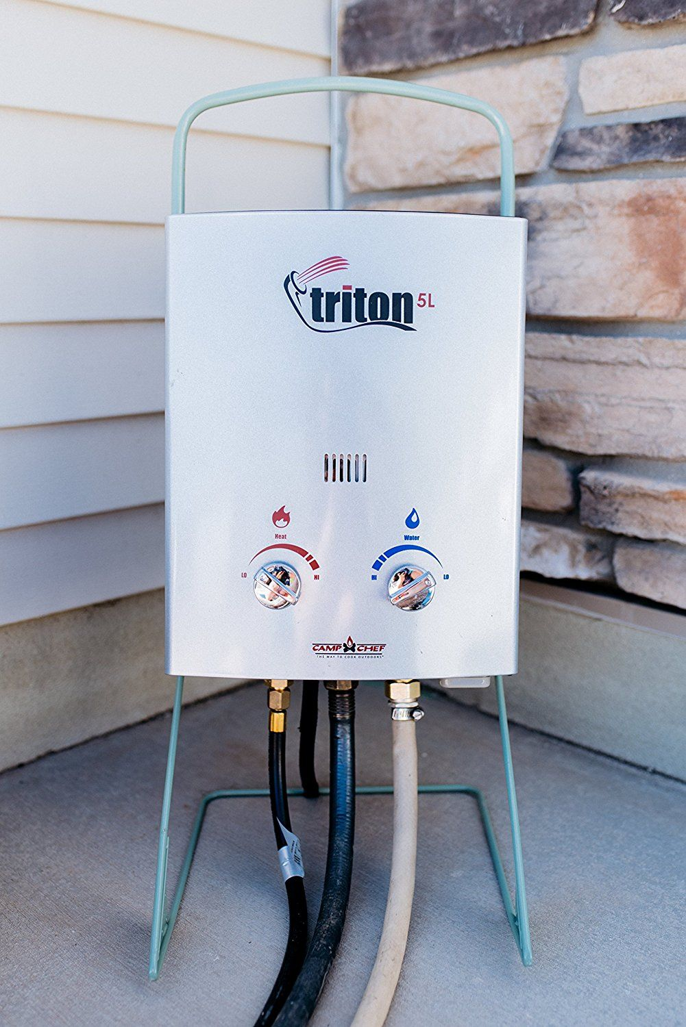 Camp chef hwd5 triton water heater review portable water