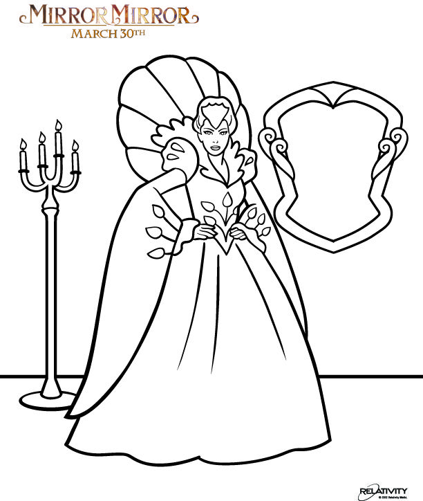 Download Free Coloring Pages From Mirror Mirror In Theaters March 30 Coloring Pages Free Coloring Pages Hand Embroidery